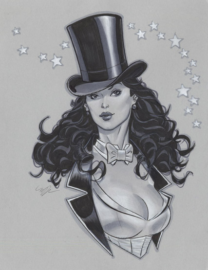 DC_Fan_Art_12_zatanna_bust_by_michaeldooney-d5a53m1