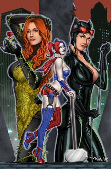 DC_Fan_Art_14_gotham_sirens_by_iurypadilha