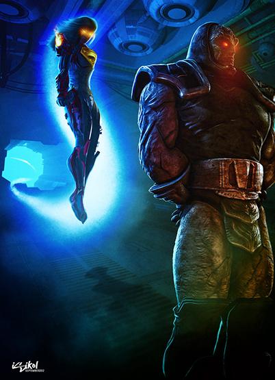 DC_Fan_Art_16_darkseid_vs_iscariot_by_isikol-d5digsc
