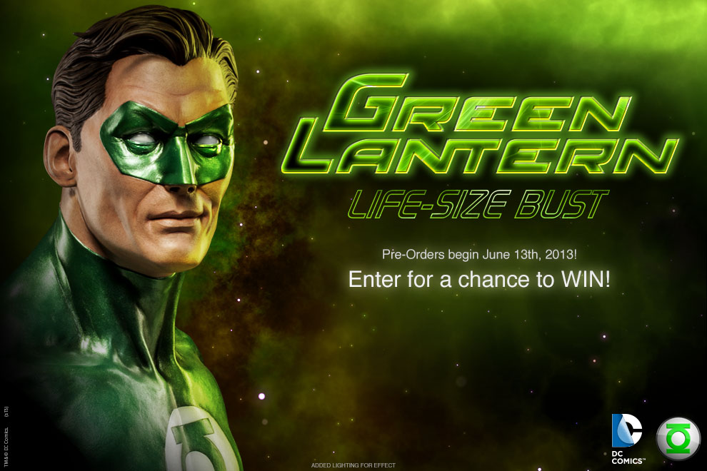 DC & Marvel Action Figures Green-Lantern-Life-Size-Bust-Preview