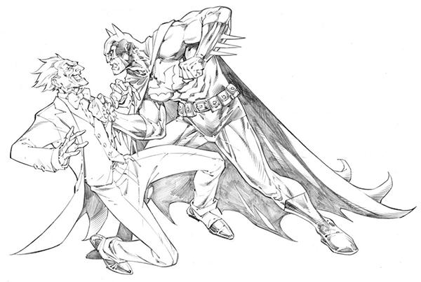 Dc fan arts 70 - Batman contre joker ...