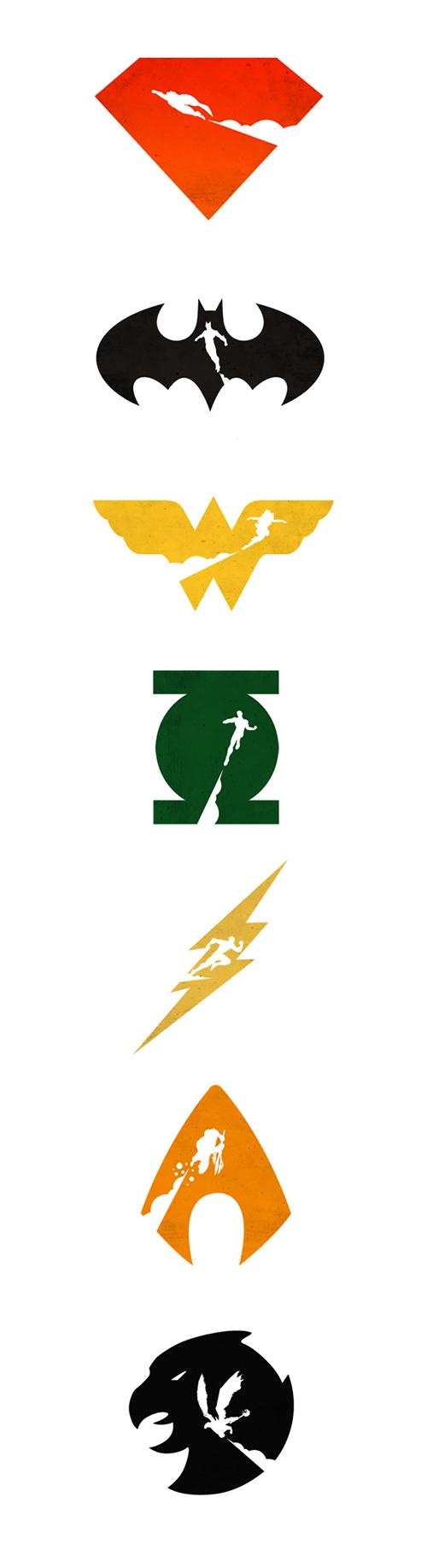 Justice League Emblems Justice League vs Teen...