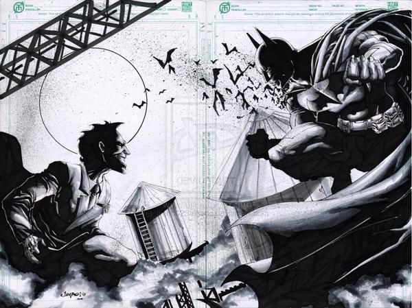 Dc fan arts 79 - Batman contre joker ...