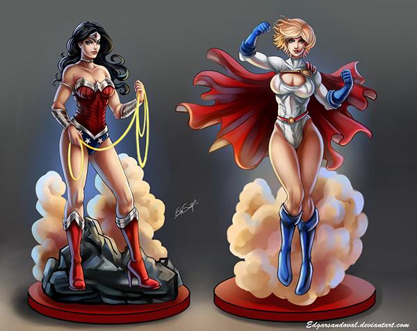 Wonder Woman et Power Girl