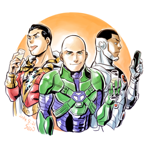 shazam__luthor_and_cyborg_by_sii_sen
