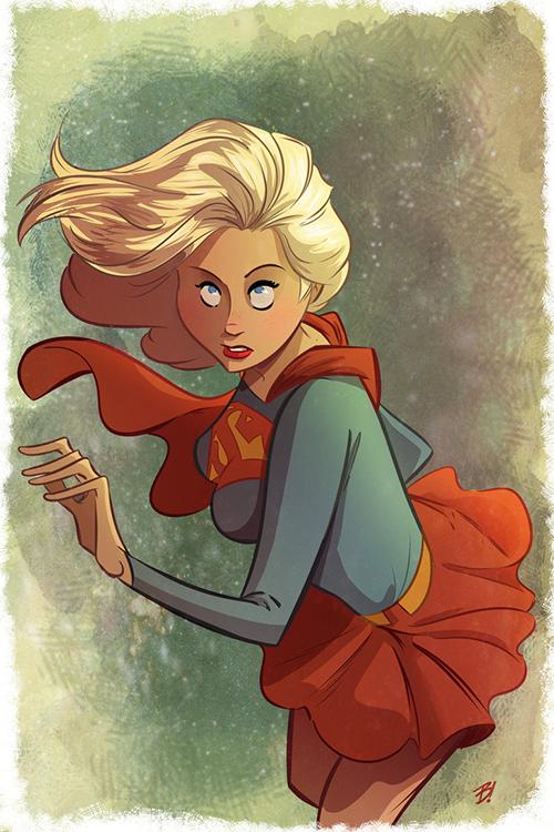 supergirl_by_davebardin