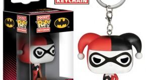 Des porte-clés Funko Batman et Harley Quinn
