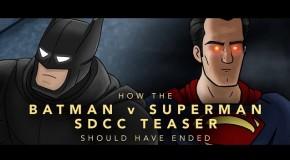 Une fin drôle pour le teaser de Batman v Superman