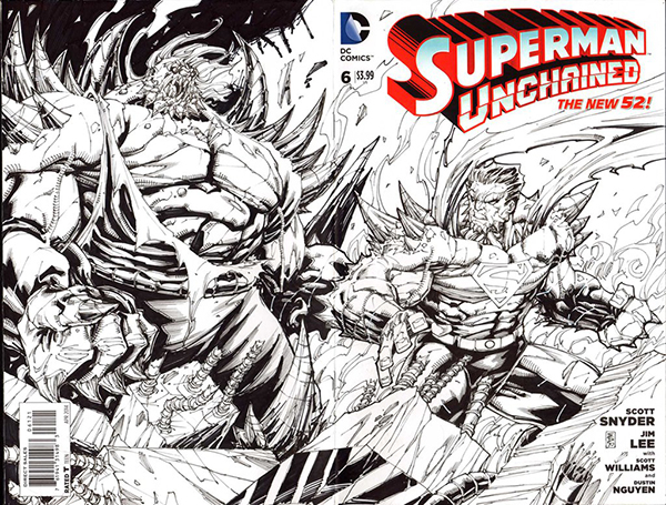 superman_unchained_b_w_sketch