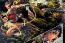 Des planches de Wonder Woman #36 et Supergirl #36