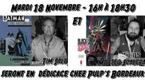 Tim Sale et Matteo Scalera en dédicace à Pulp's Bordeaux