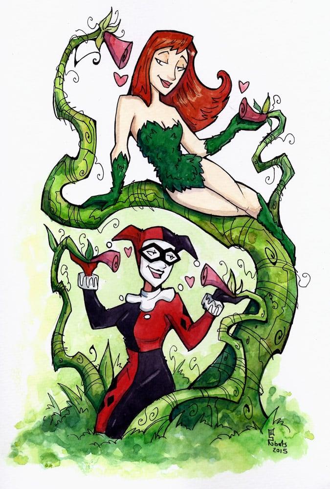 Poison Ivy et Harley Quinn