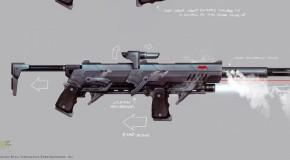 Des concept-arts pour la Batmobile et l'armement de Batman : Arkham Knight