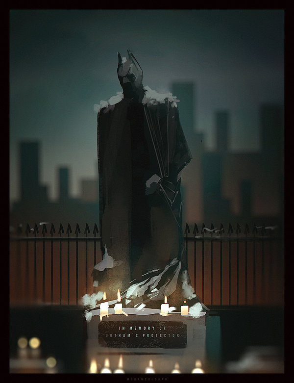 """""""in memory of the protector of gotham city"""""""