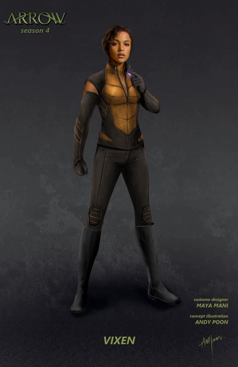 Un Concept Art De Vixen Dans Arrow DCPlanetfr