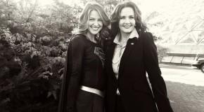 Une première photo de Lynda Carter sur le tournage de Supergirl