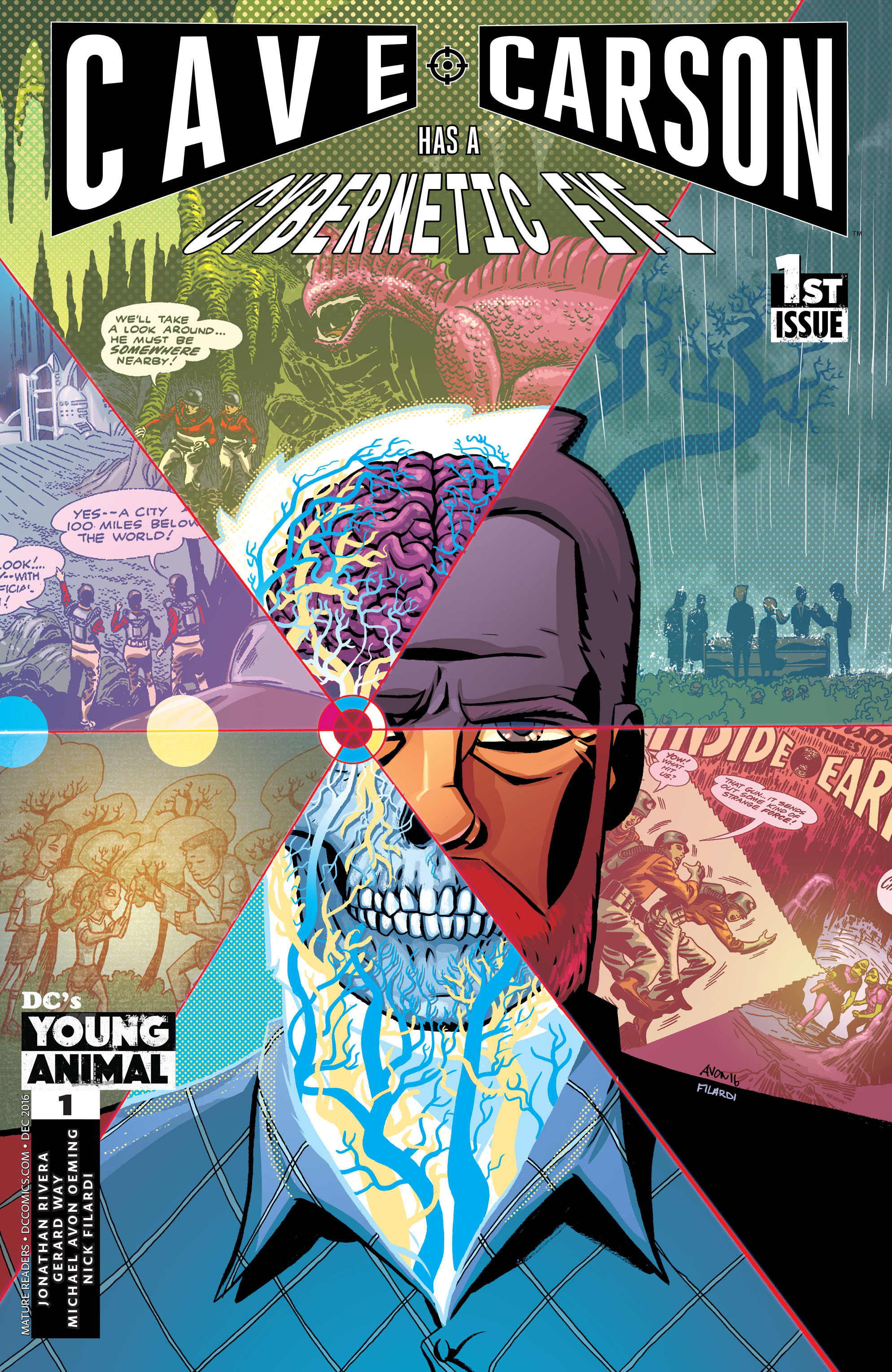 Review VO – Cave Carson has a cybernetic eye #1 1