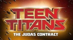 Un poster teaser pour le film d'animation Teen Titans : The Judas Contract