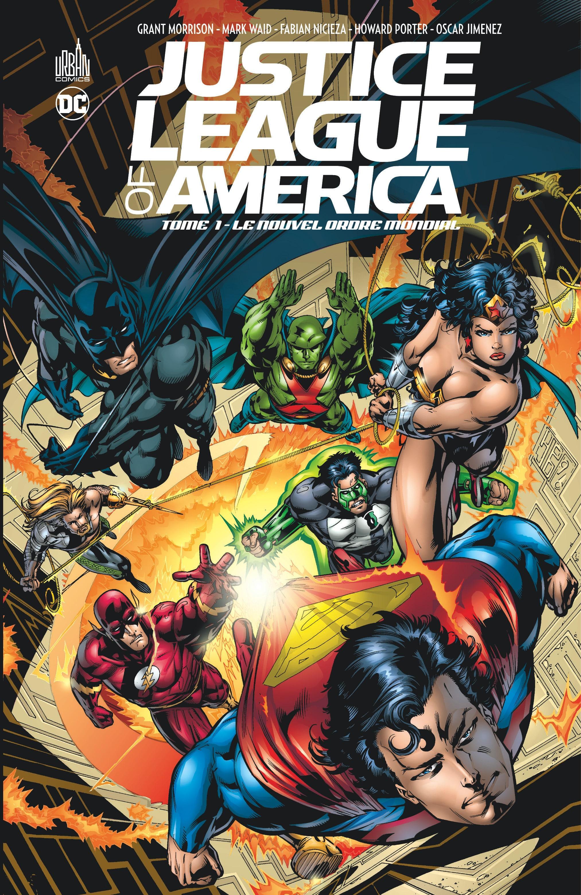 Couverture de Justice League of America tome 1 Le nouvel ordre mondial