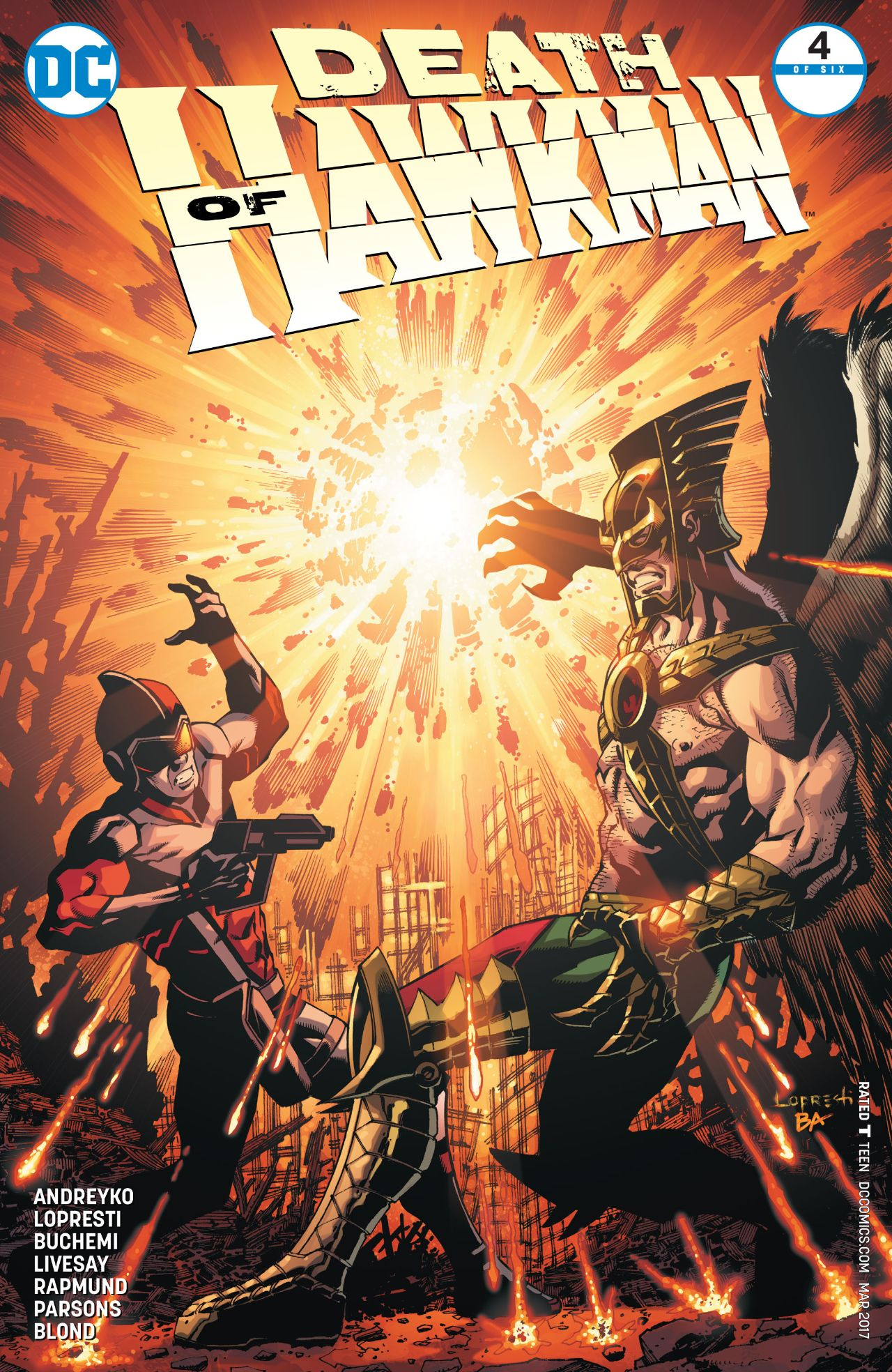 review DEATH OF HAWKMAN #4