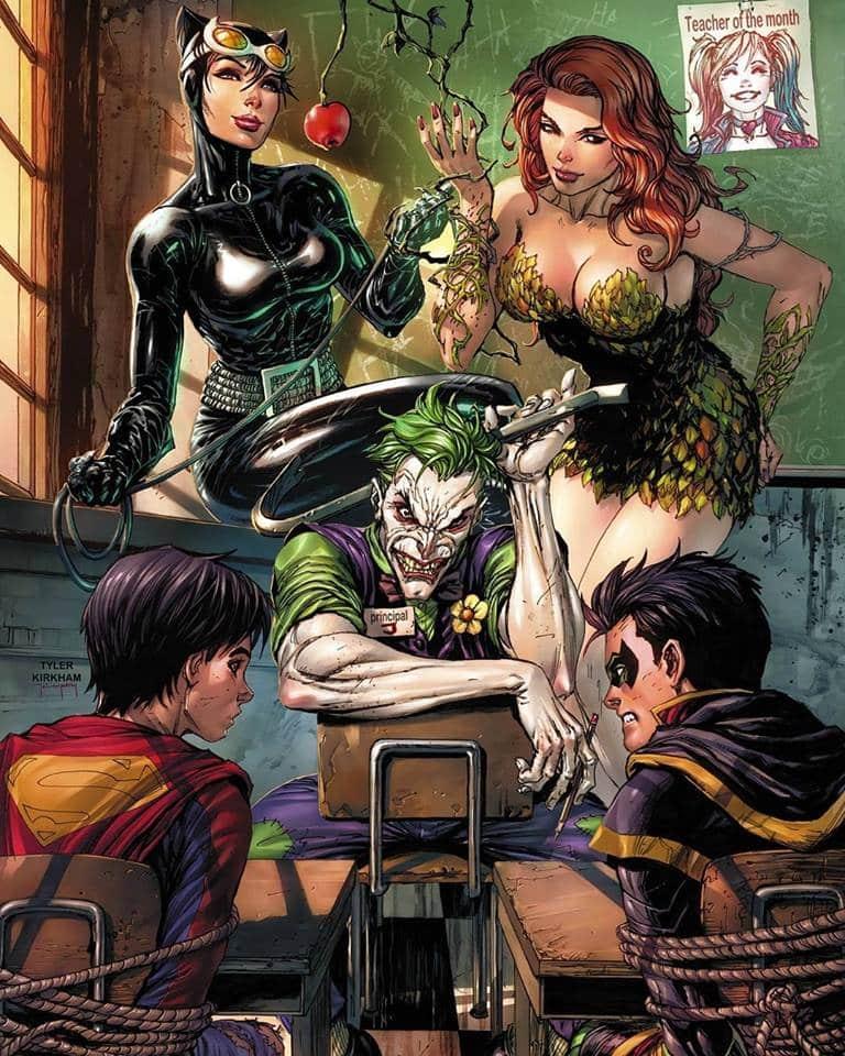 Ivy, Catwoman, Joker et les Super Sons