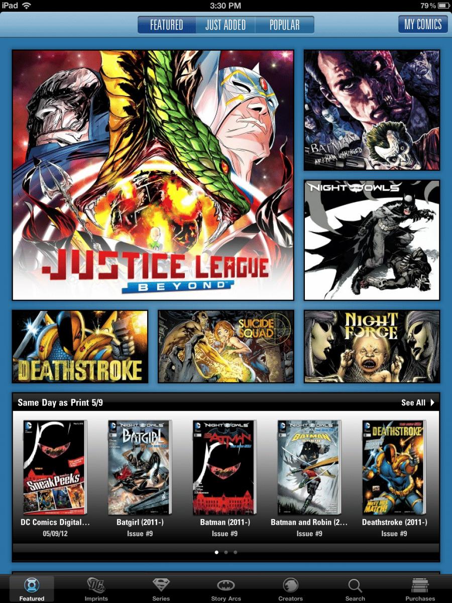 MAJ de l'application iOS DC Comics 27
