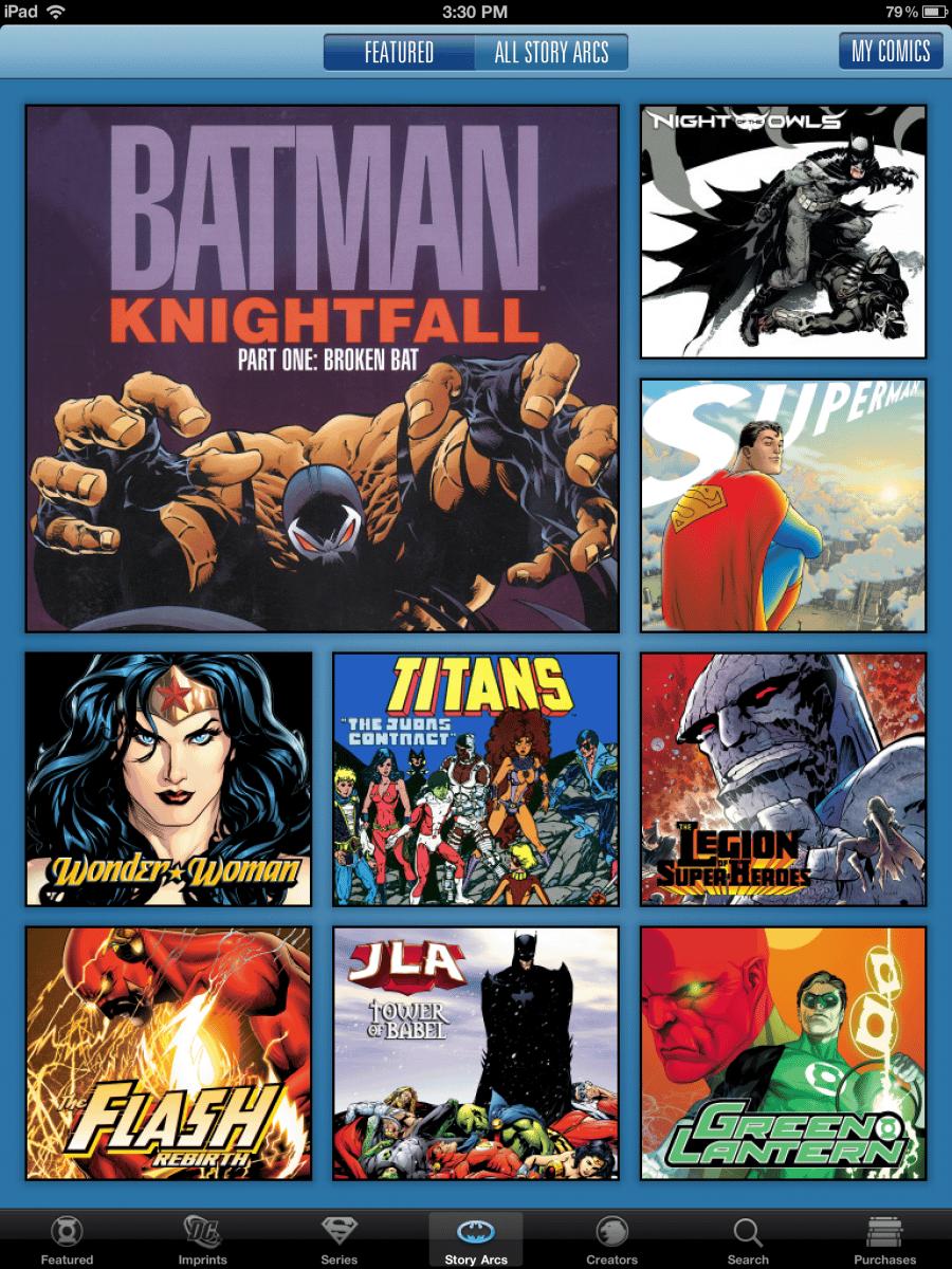 MAJ de l'application iOS DC Comics 28