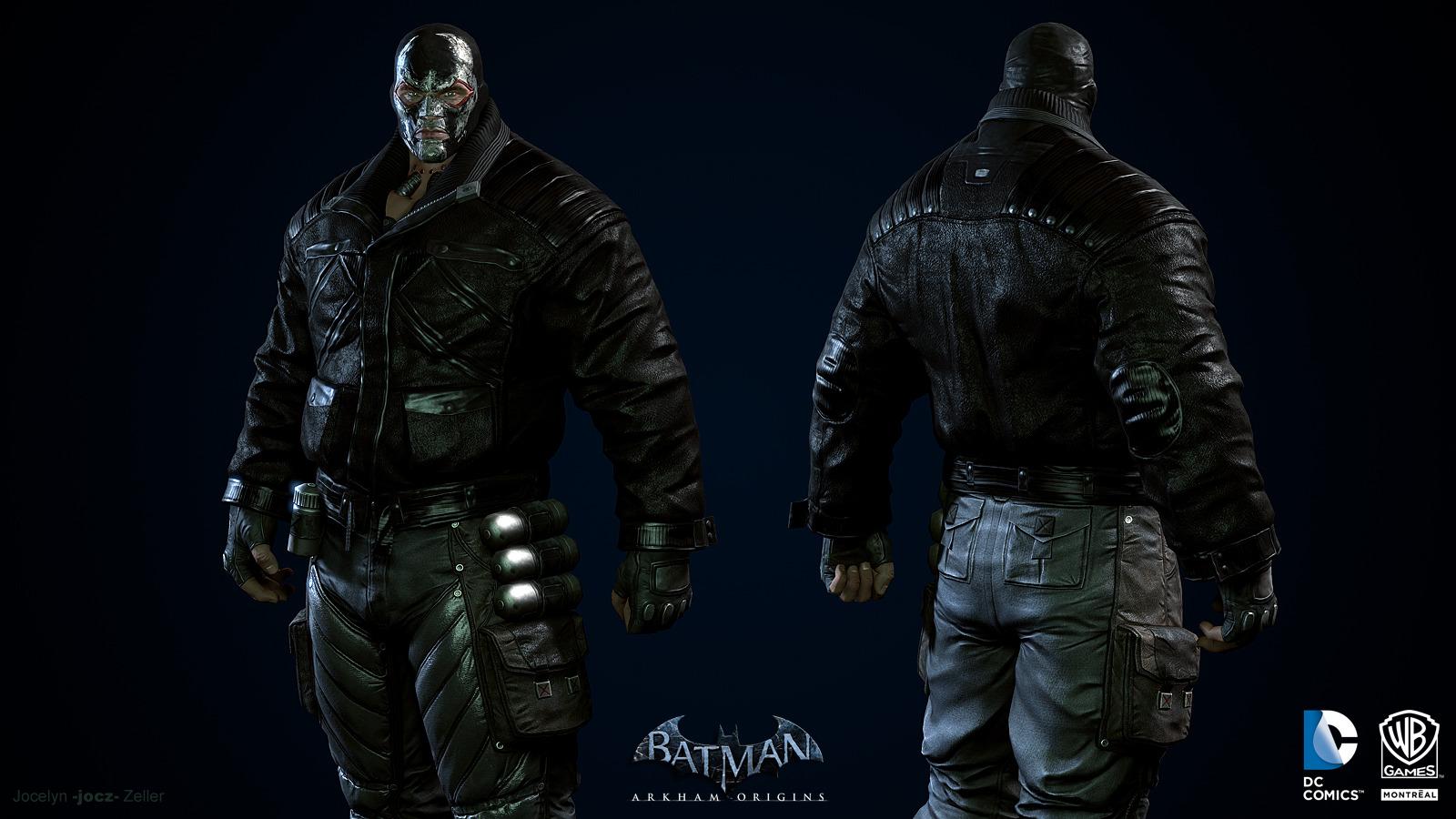 batman arkham origins conceptarts du gang de bane