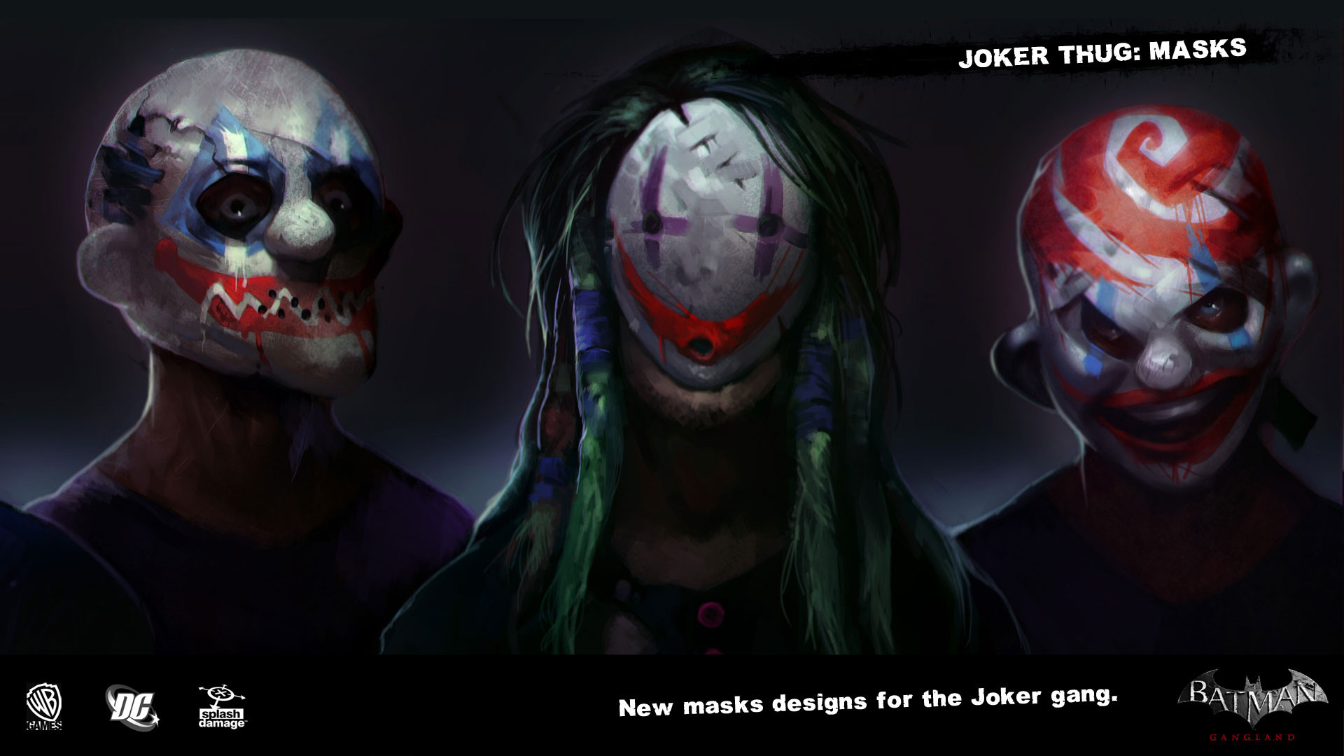 Batman Arkham Origins Concept Arts Du Gang Du Joker Dcplanetfr