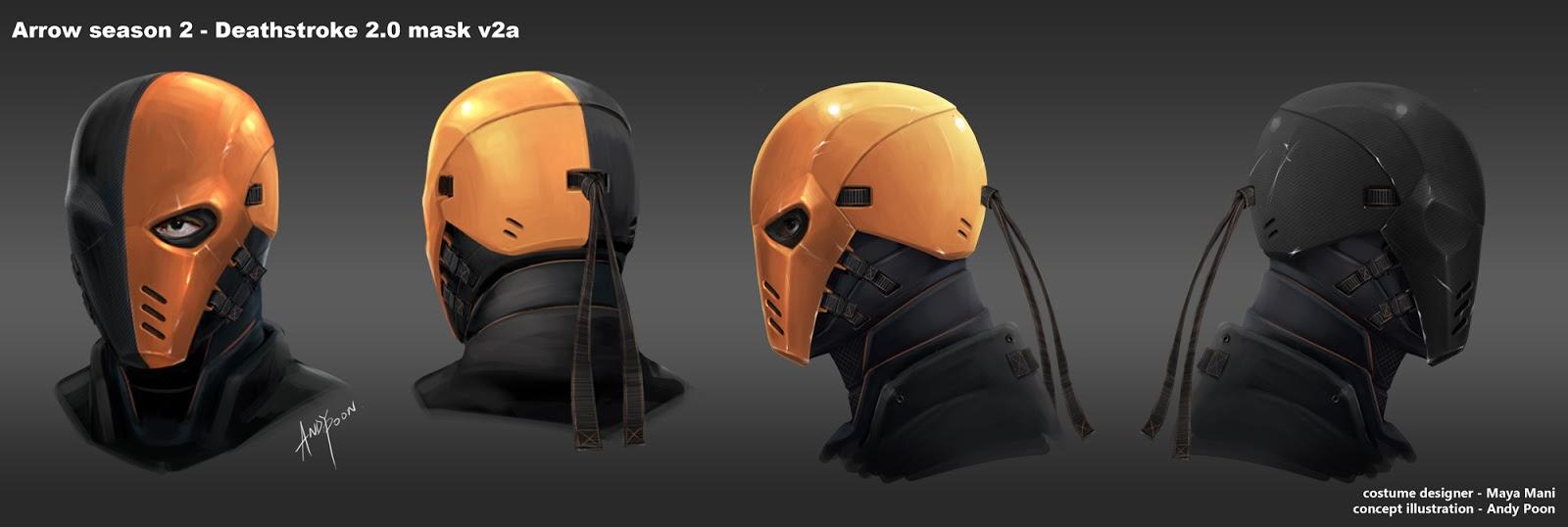Des concept-arts du masque de Deathstroke pour Arrow ...   1600 x 538 jpeg 87kB