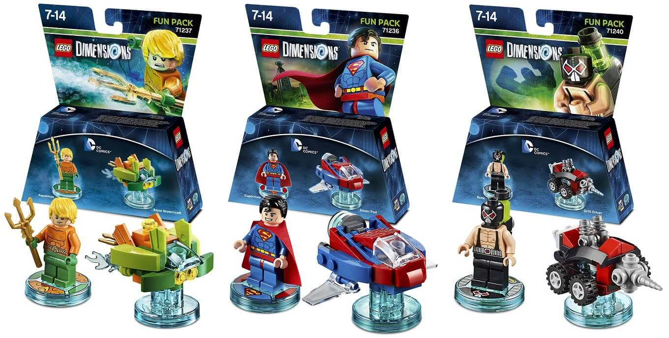 Lego Dimensions Des Fun Packs Dc Comics D 233 Voil 233 S