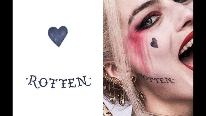 Un meilleur aperçu des tatouages de Harley Quinn dans Suicide Squad 3