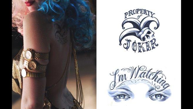 Un meilleur aperçu des tatouages de Harley Quinn dans Suicide Squad 5