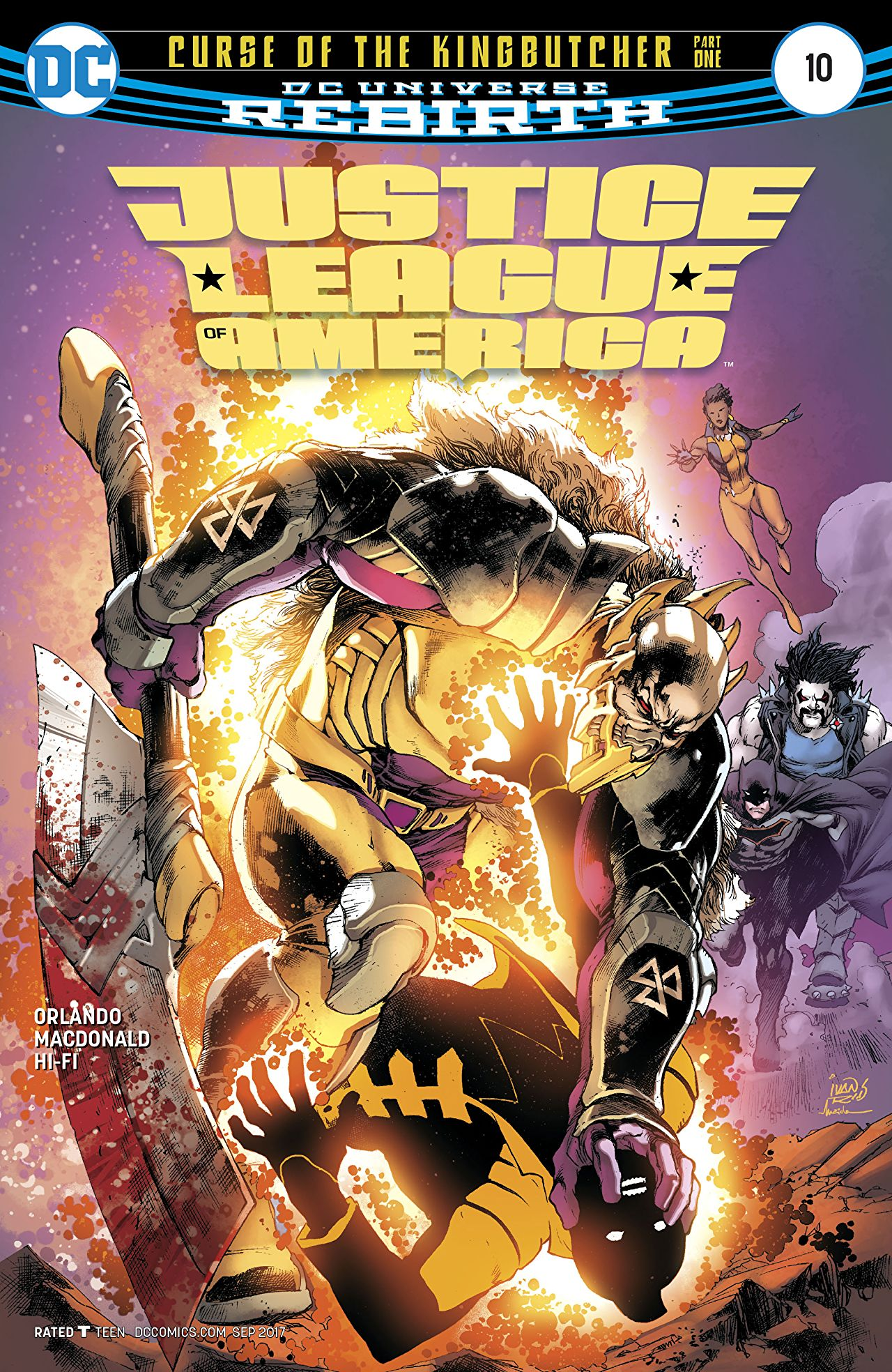 review JUSTICE LEAGUE OF AMERICA #10