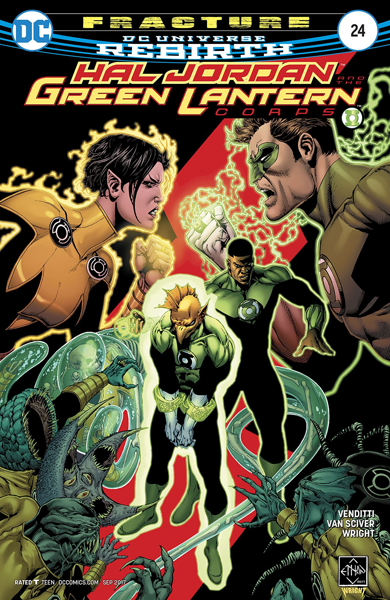 review HAL JORDAN AND THE GREEN LANTERN CORPS #24