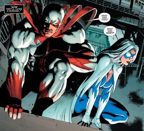 Un premier aperçu de Hawk & Dove pour la série Titans 3