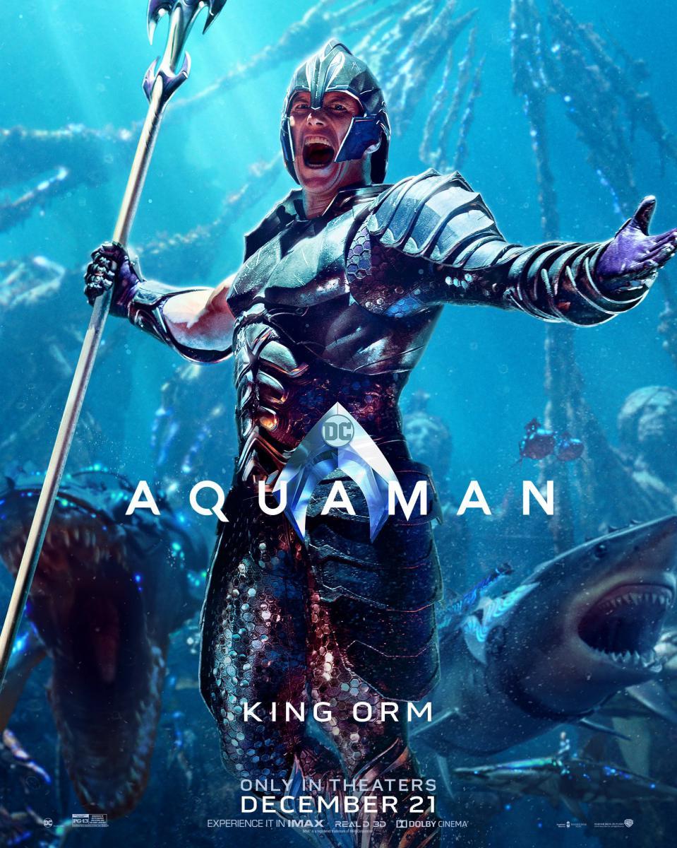 Des Posters Sur Les Personnages D'Aquaman Dévoilés