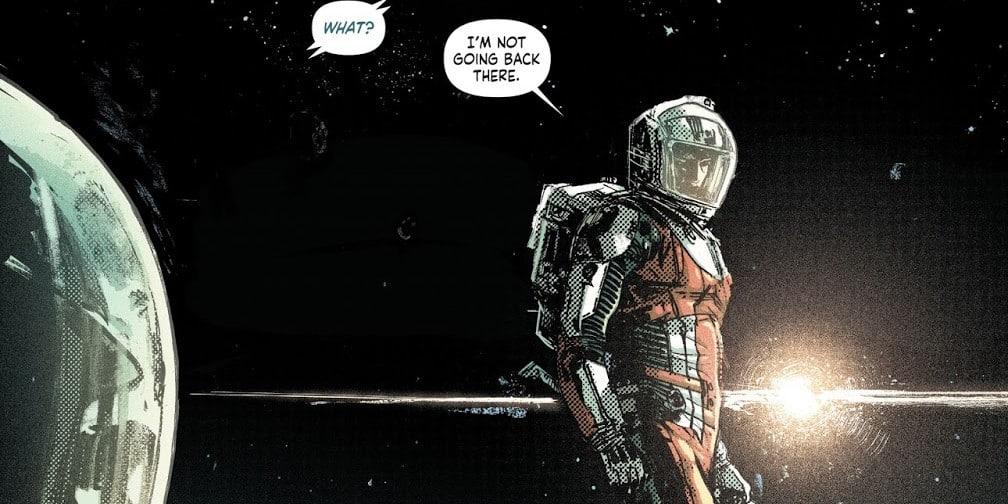 green lantern dans l'espace explorateur de l'univers