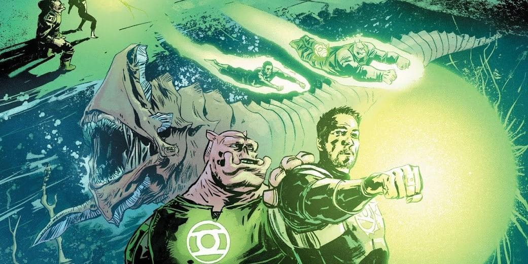 green lantern et son pote killowog