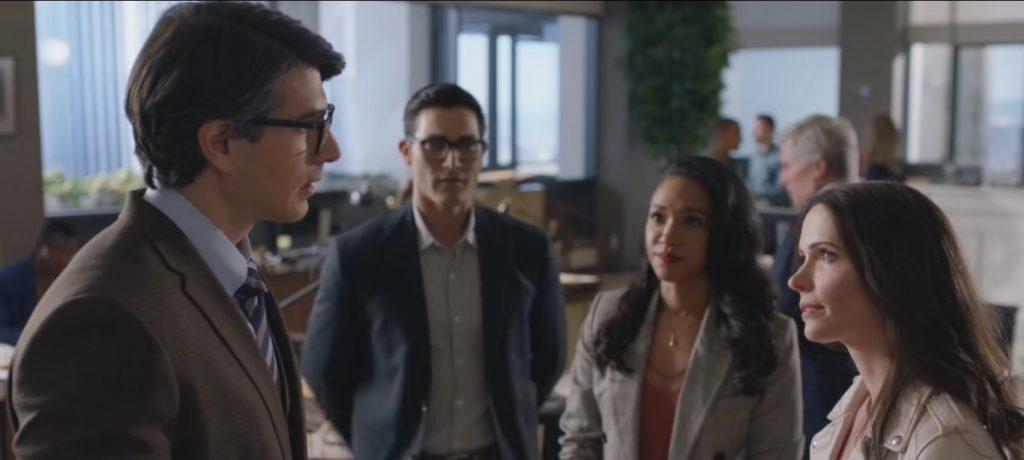 Les Clark et Lois de l'univers CW rencontrent le Clark de Brandon Routh