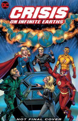 Couverture provisoire du comics Crisis on Infinite Earths