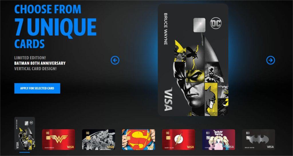 cartes bleues dc comics