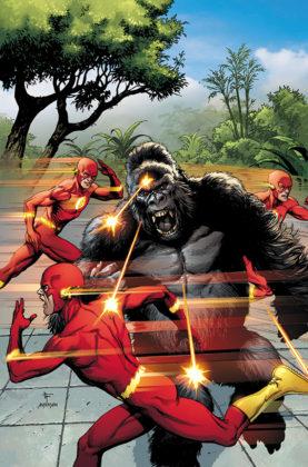 Flash parcourt les décennies dans les variant covers de son #750 2