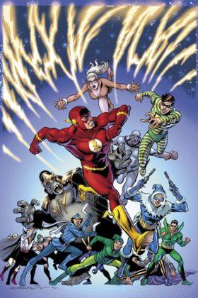Flash parcourt les décennies dans les variant covers de son #750 4