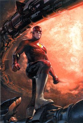 Flash parcourt les décennies dans les variant covers de son #750 5