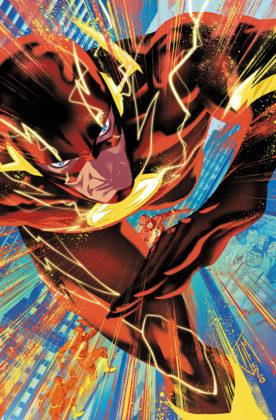 Flash parcourt les décennies dans les variant covers de son #750 8