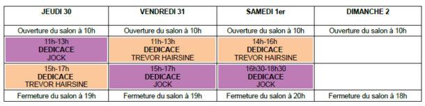 Planning dédicaces Urban Comics Angoulême