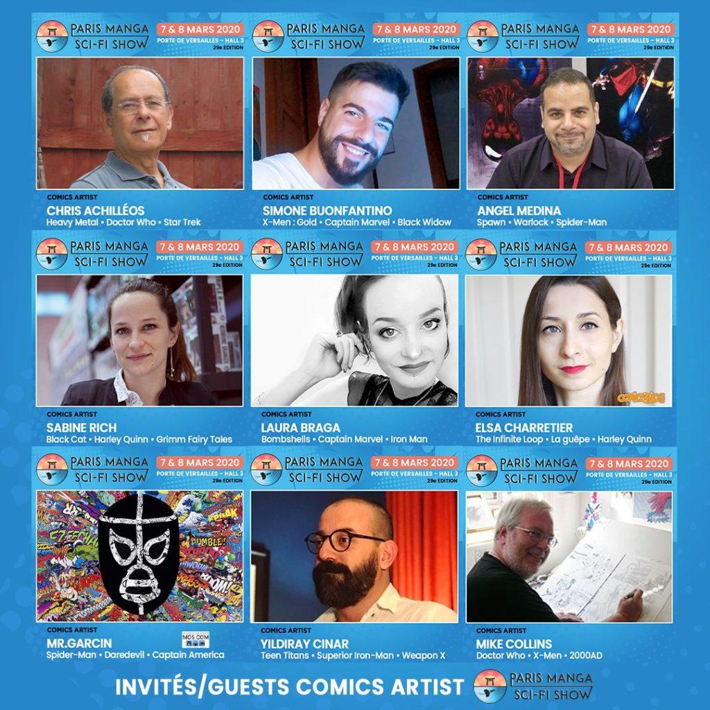 Paris Manga & Sci-Fi Show 2020 artistes
