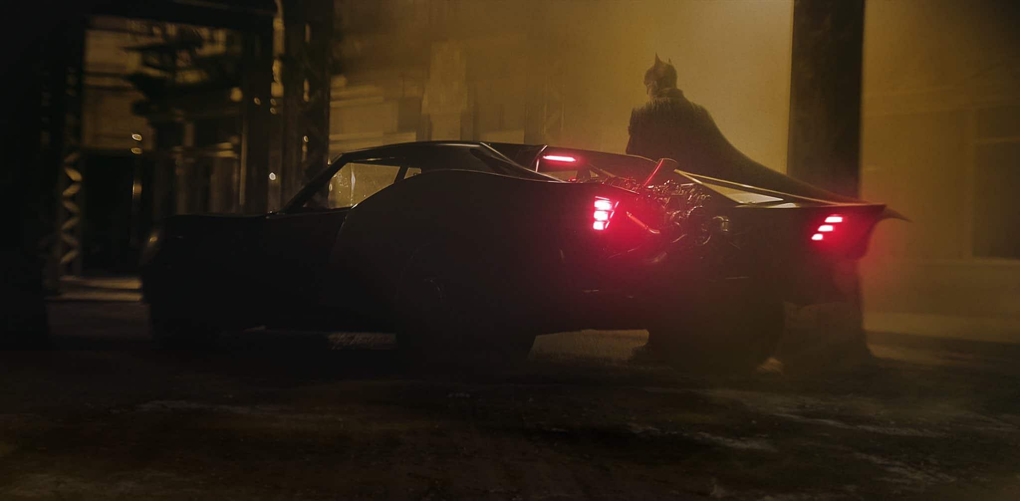 The Batman : aperçu de la Batmobile
