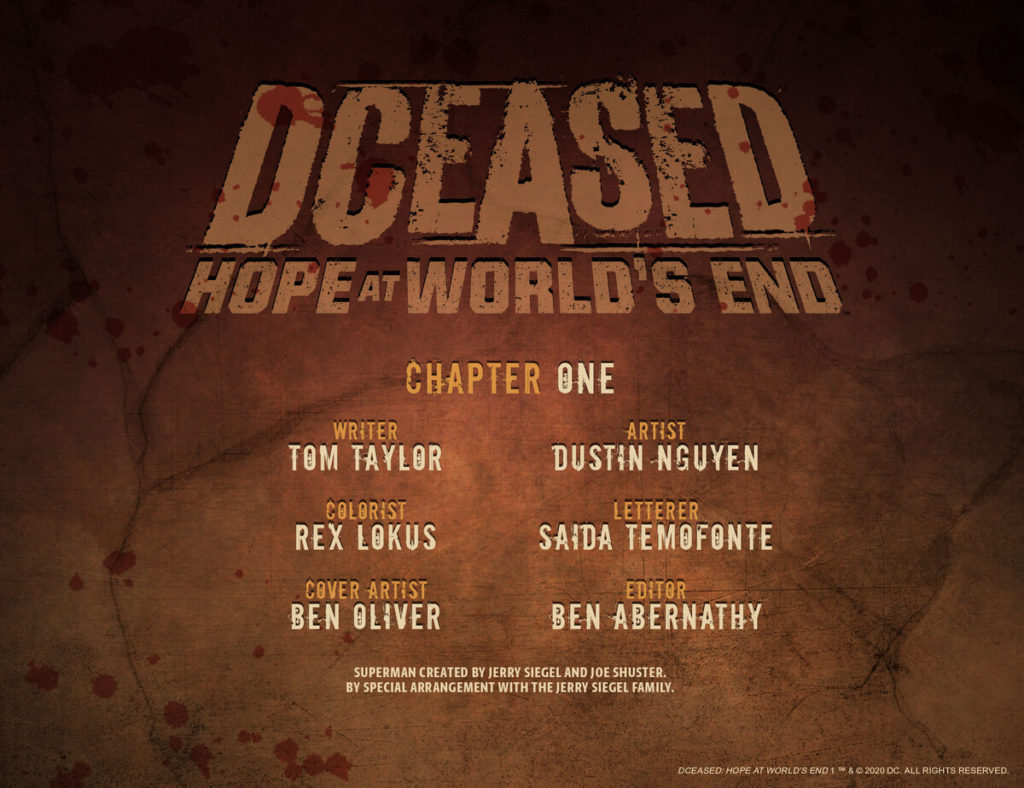 DC annonce DCeased : Hope at World's End 2